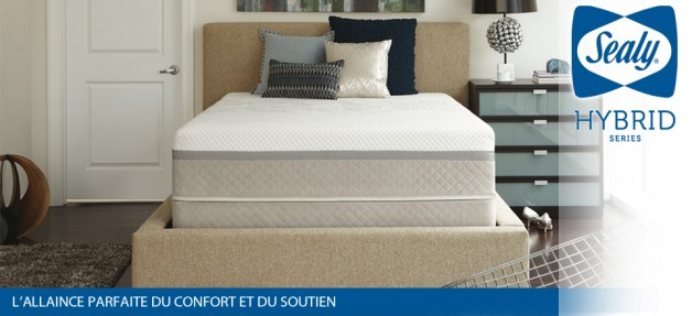 SEALY HYBRID CONFORT NUITS NIMES RESSORTS MEMOIRE DE FORME HYBRID